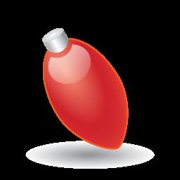 Xmas Light Red Sticker