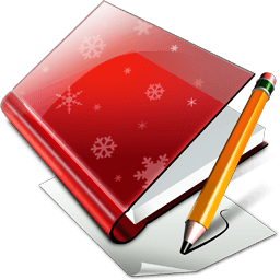 X-mas Book & Pencil Sticker