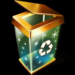 X-mas Recycle Bin Empty Sticker