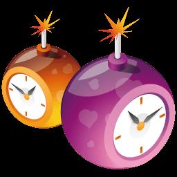 X-mas Clocks Sticker