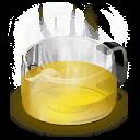 Glass Teapot Yellow Sticker