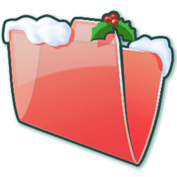 X-mas Folder Snow Sticker