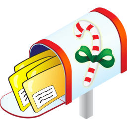 Christmas Mailbox Sticker