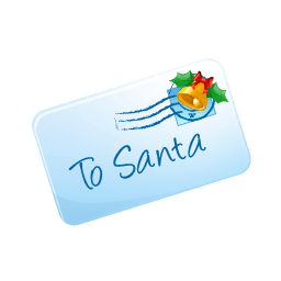 To Santa Sticker
