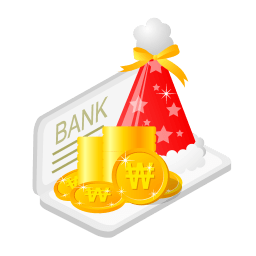 Christmas Bank Money Sticker