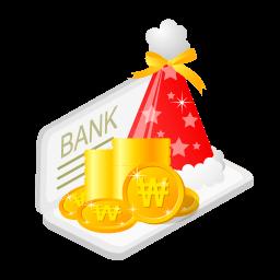 Christmas Bank Money Sticker