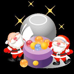 Santa Christmas Balls Sticker