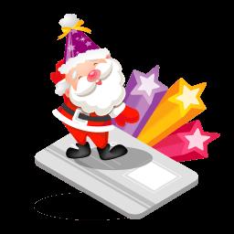 Santa Creditcard Sticker