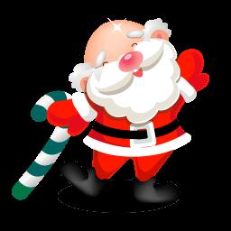 Santa Dancing Sticker