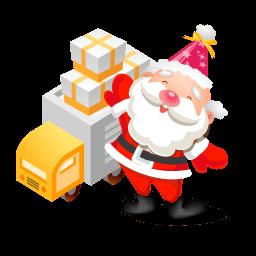 Santa Gifts Truck Sticker