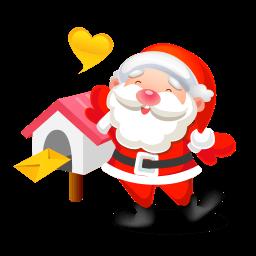 Santa Mail Sticker