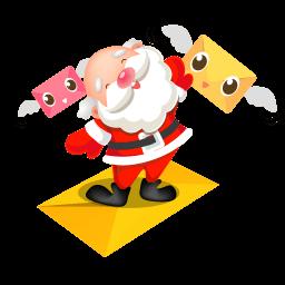 Santa Mails Sticker