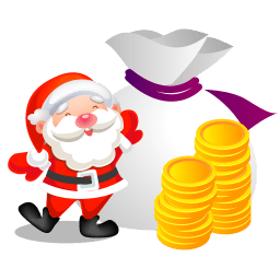 Santa Money Sticker
