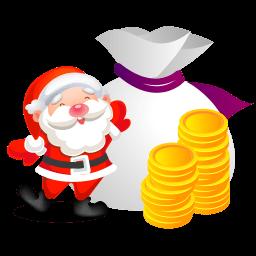 Santa Money Sticker