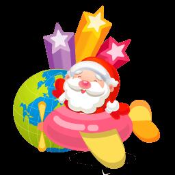 Santa Plane Sticker
