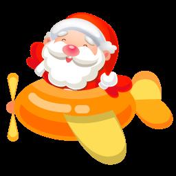 Santa Plane 2 Sticker