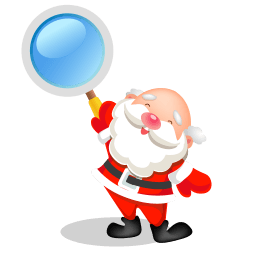 Santa Search Sticker