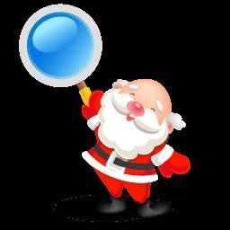 Santa Search Sticker