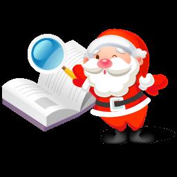 Santa Search Book Sticker