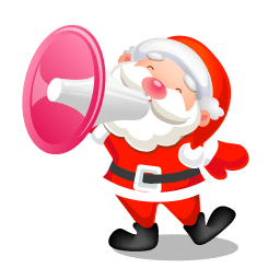 Santa Shouting Megaphone Sticker