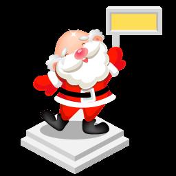 Santa Sign Sticker