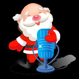 Santa Singing Microphone Sticker