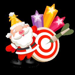 Santa Stars Sticker