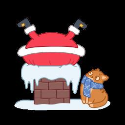 Santa Chimney Sticker