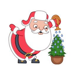 Santa Christmas Tree Sticker