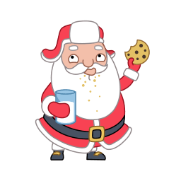 Santa Cookies Sticker