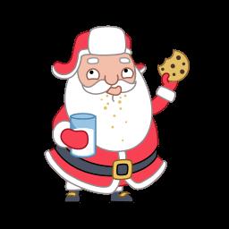 Santa Cookies Sticker