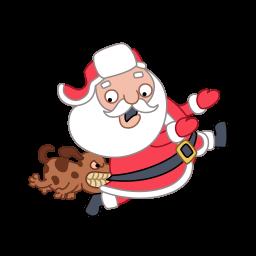 Santa Dog Sticker