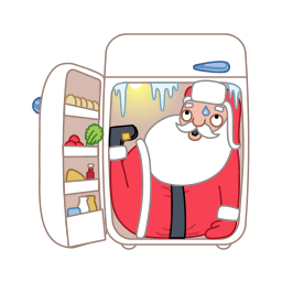 Santa Fridge Sticker