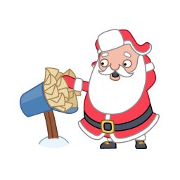 Santa Mail Mailbox Sticker