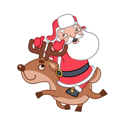 Santa Reindeer Sticker