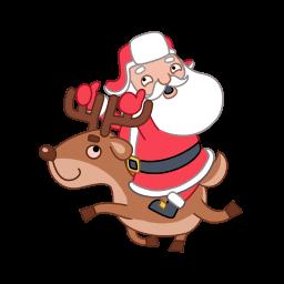 Santa Reindeer Sticker