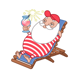 Santa Relax Summer Sticker