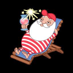 Santa Relax Summer Sticker