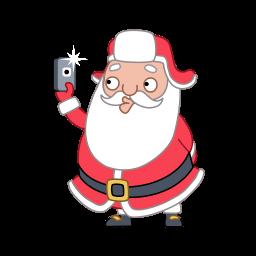Santa Selfie Sticker