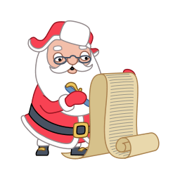 Santa Wishlist Sticker