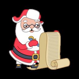 Santa Wishlist Sticker