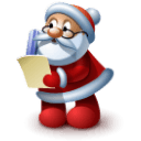 Santa 4 Sticker