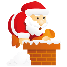 Santa Chimney Sticker