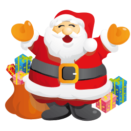 Santa Gifts Sticker