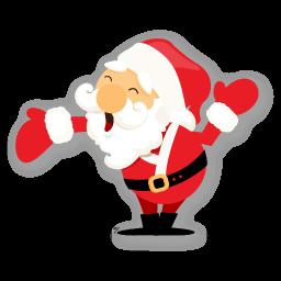 Santa Hand Sticker