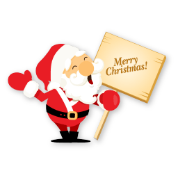 Santa Merry Christmas Sticker
