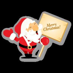 Santa Merry Christmas Sticker