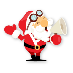 Santa Shout Sticker