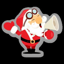 Santa Shout Sticker