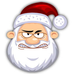 Angry Santaclaus Sticker